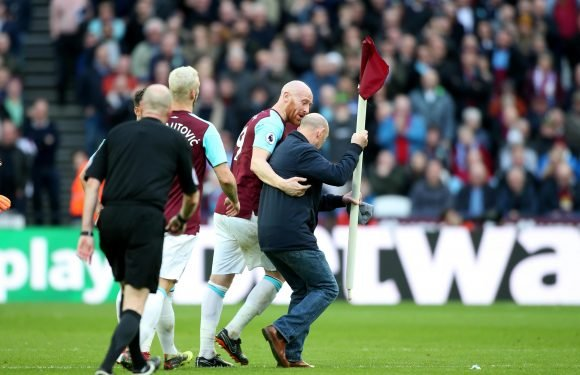 West Ham slap five yobs with lifetime bans for invading pitch during Burnley clash