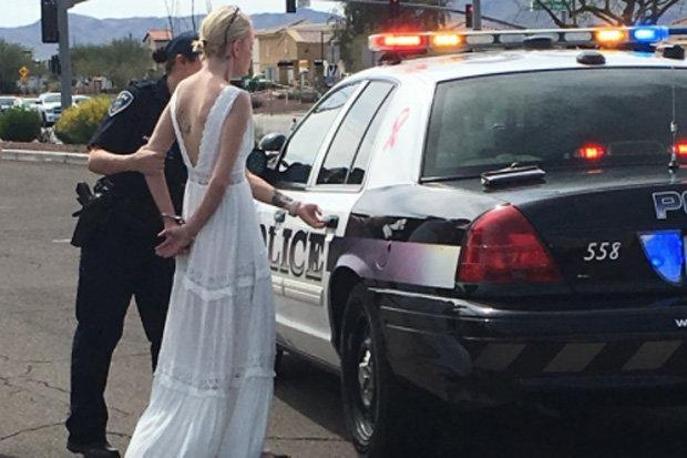 'Drunk' bride arrested for drink driving on the way to her own WEDDING after three-car smash