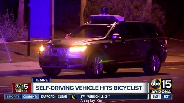 First pedestrian killed by driverless car as autonomous Uber ploughs into woman crossing the street in Arizona