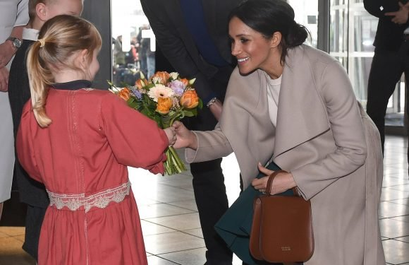 Meghan Markle's choice of Belfast handbag carries a secret message of support to her future father-in-law