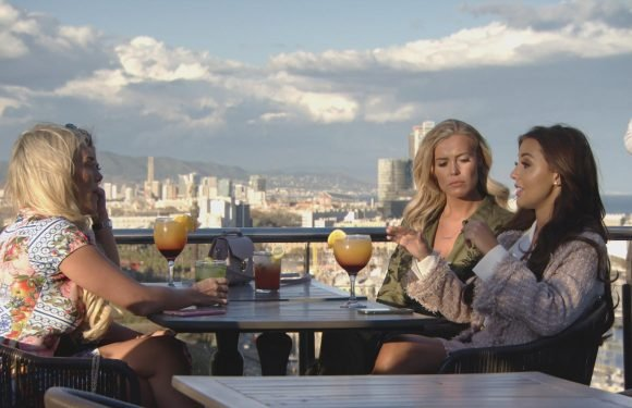 Amber Turner in love triangle showdown with Towie newcomer Clelia Theodorou over Dan Edgar in first look at The Only Way is Barcelona