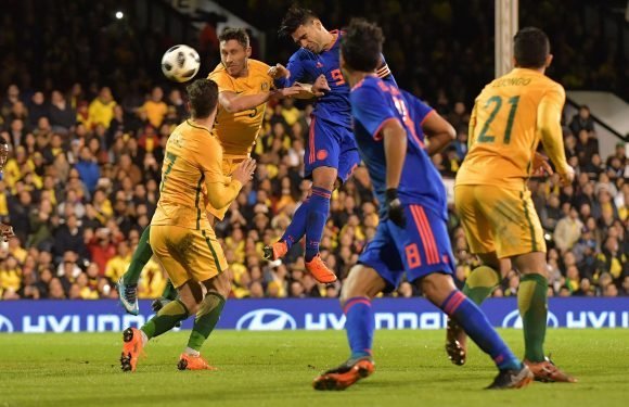 Colombia 0 Australia 0: Radamel Falcao has a nightmare as ex-Manchester United and Chelsea striker relives England horror show