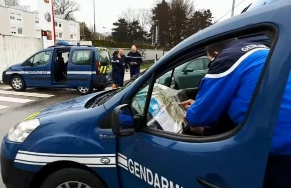 Man arrested after 'car tries to mow down soldiers outside French army barracks in Varces-Allieres-et-Risset'