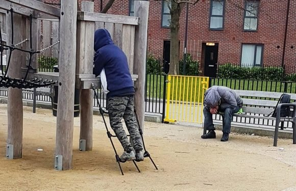 Shocking pic of 'Black Mamba zombies' slumped in children's play park in broad daylight