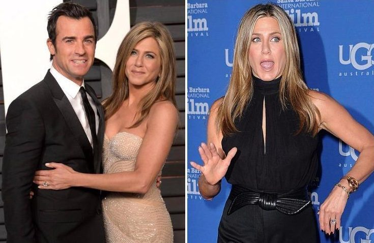 Jennifer Aniston is 'keeping £360k diamond engagement ring' after split from Justin Theroux