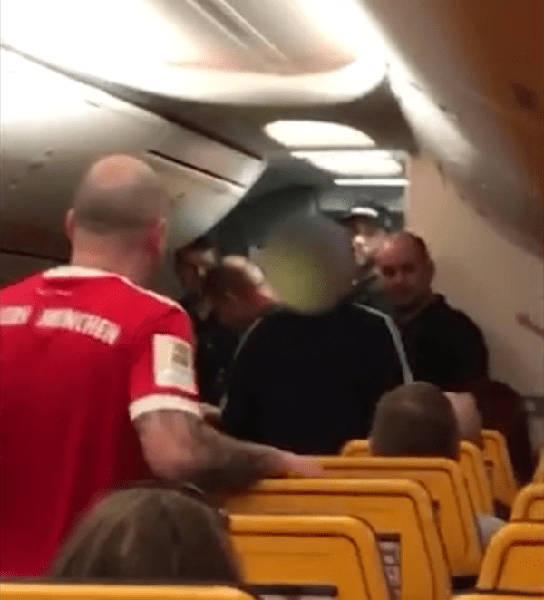 'Drunk' Ryanair passenger escorted from plane after flight was turned around 'because he threatened to stab women'