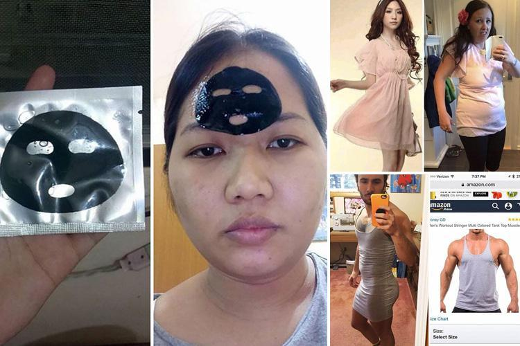 From tiny face masks to VERY dodgy dresses… unhappy shoppers share what happens when buying online goes VERY wrong