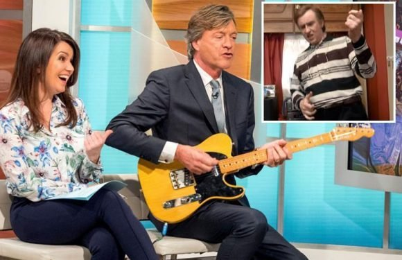 Good Morning Britain viewers accuse Richard Madeley of being a 'real life Alan Patridge' after he tries to outplay Def Leppard star on the guitar