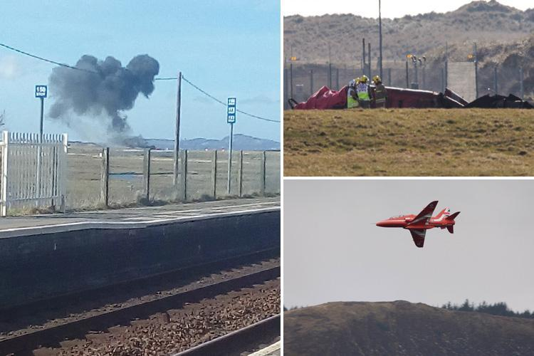 Red Arrows jet crash at RAF Valley in North Wales leaves engineer dead – but pilot SURVIVES after 'ejecting'