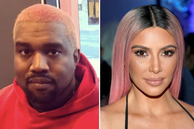 Kanye West copies Kim's pink hair as he heads to £900 a NIGHT ski resort to make new album – and Kim goes too