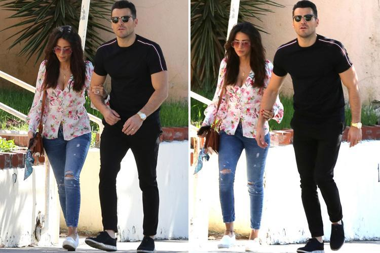 Michelle Keegan looks stunning in a flowery shirt as she joins husband Mark Wright for a stroll in LA