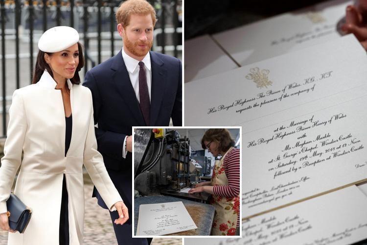 Meghan Markle and Prince Harry send out royal wedding invitations with 2,640 members of public set to attend – so check your post
