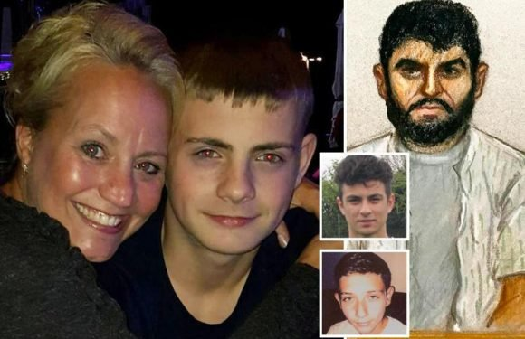 Heartbroken mum breaks down in court revealing tragic son's final words before speeding drink-driver killed him and two pals