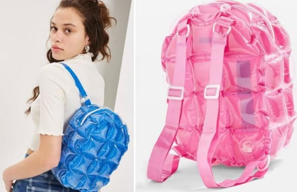 Those 90s inflatable backpacks are making a comeback thanks to Topshop and we are feeling all the nostalgia