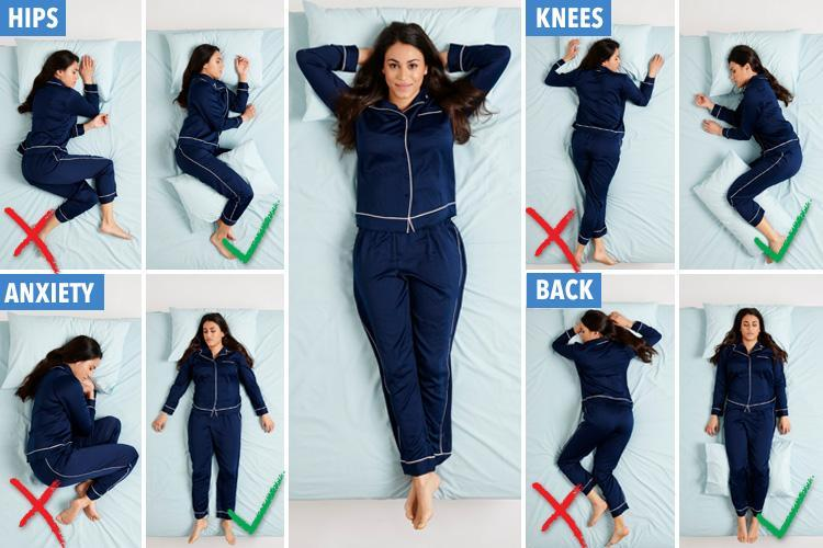 From battling anxiety to getting rid of pesky headaches, these are the best sleep positions so you get a healthy night's kip
