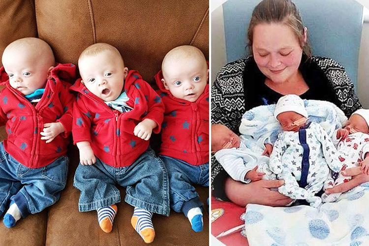 Two triplets die in same night leaving surviving brother to sleep next to their dead bodies in million-to-one tragedy