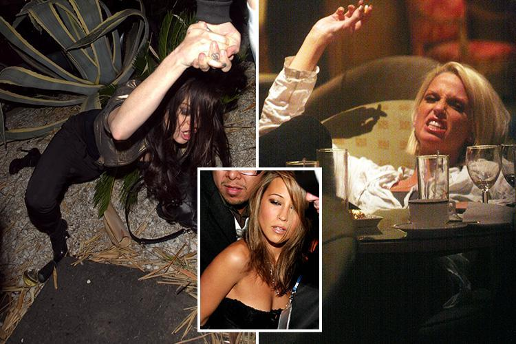 Lindsay Lohan, Sarah Harding, and Rachel Stevens get messy as pictures reveal how stars used to party in the 00's