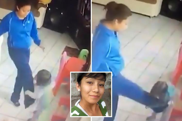 Abusive nanny filmed 'kicking and stamping on twin toddlers' found hanged in jail cell