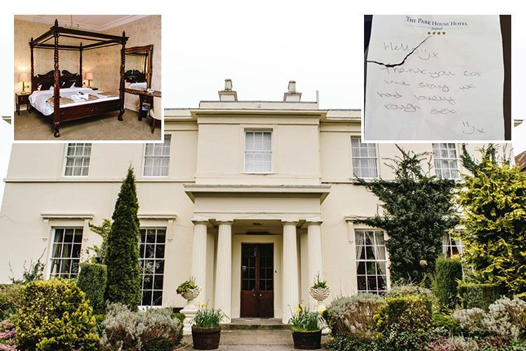 Randy guests at posh upmarket hotel left cheeky note bragging about their 'lovely rough sex'