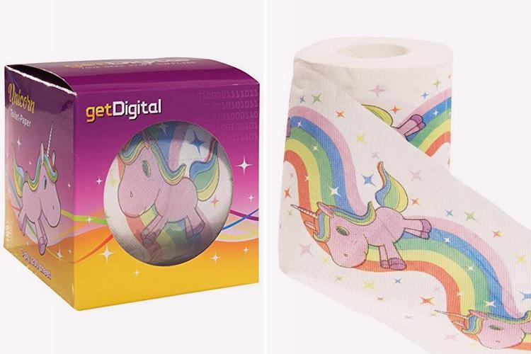 Unicorn toilet roll is now a thing… but is it far too gorgeous to use down there?
