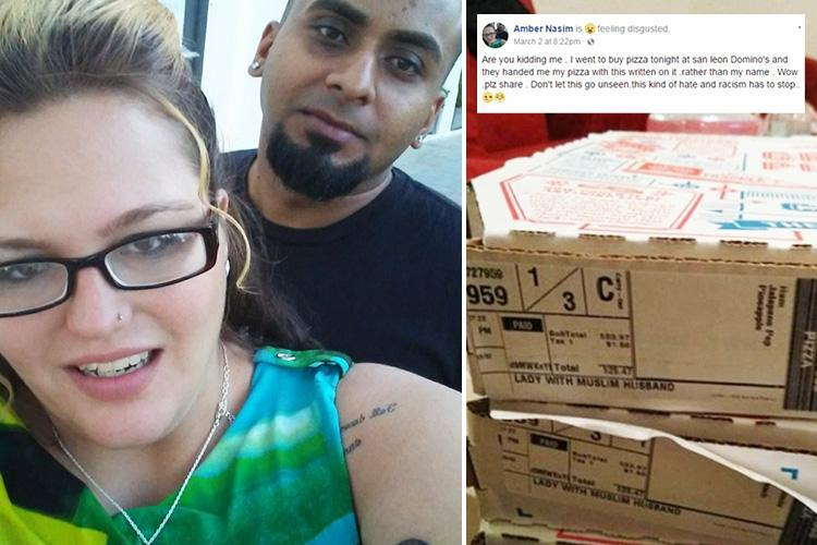 Domino's Pizza blasted as US store serves food labelled 'lady with Muslim husband' after she ordered a pork-free meal