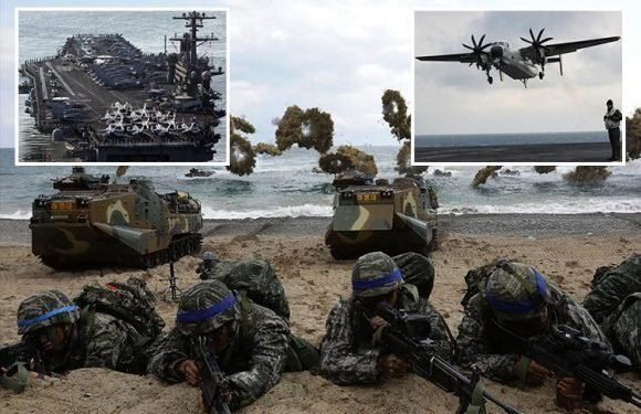 Behind the 'chilling' two-month US-South Korean war games which Kim Jong-un claims will blow peace talks out of the water
