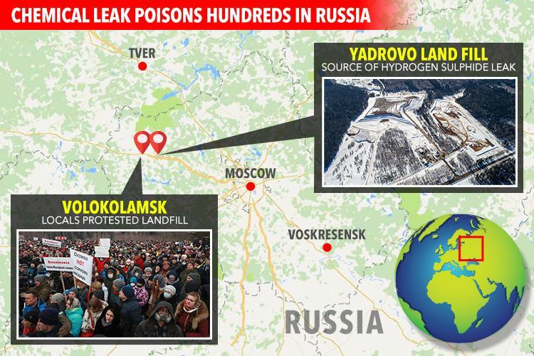 Nearly 200 people including schoolkids 'poisoned in Moscow after chemical leak'