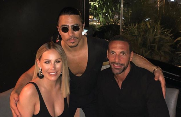 Rio Ferdinand gushes over stunning snap of girlfriend Kate Wright as they enjoy dinner with chef Salt Bae in Dubai