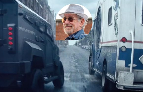 Let's crash cars together with Steven Spielberg on the set of Ready Player One