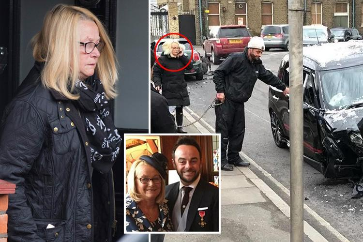 How Ant McPartlin's mum Christine Woodhall moved in with after rehab and is still by his side after car crash