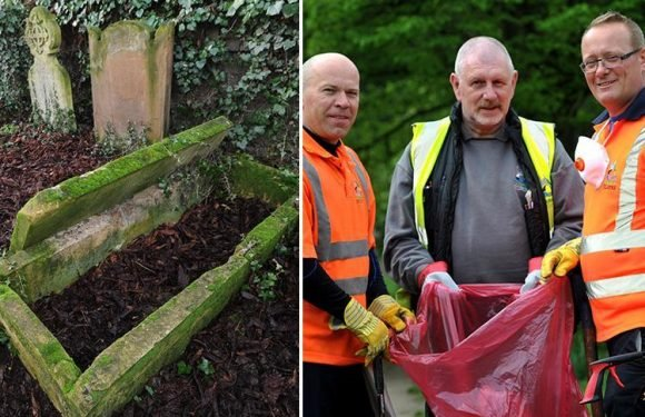 Homeless people moving tombstones to sleep in GRAVES at Cambridge cemetery