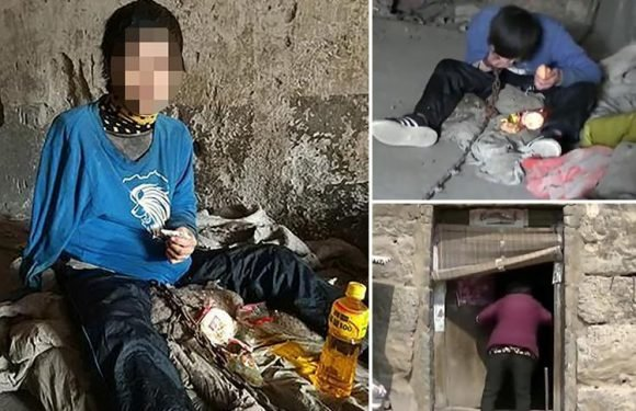 Deaf man chained up inside a stone cage for 10 YEARS by mum who claims she can't look after him