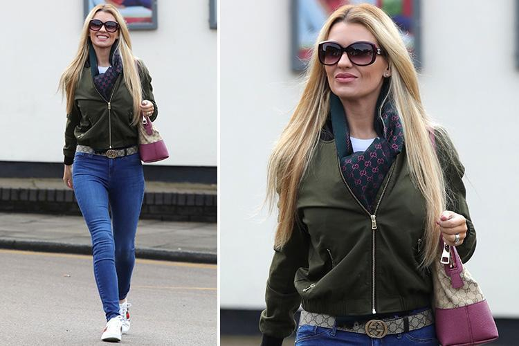 Christine McGuinness wears head to toe Gucci for lunch in Cheshire