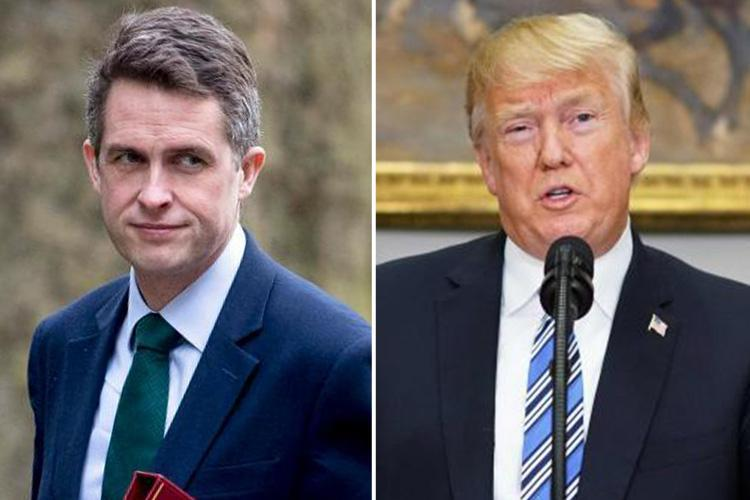 Defence Secretary Gavin Williamson demands UK is exempt from steep new US steel tariffs