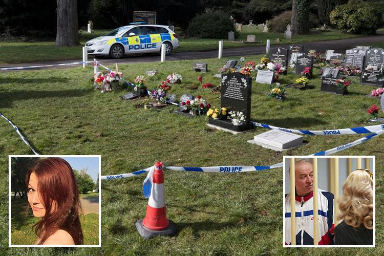 Now cops seal off Russian spy Sergei Skripal's wife's GRAVE amid fears she was poisoned too