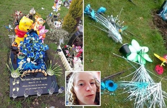 Grieving mums' fury as sick thieves ransack baby graves