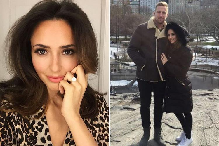 Former I'm A Celebrity star Nadia Forde gets engaged to rugby player Dominic Day