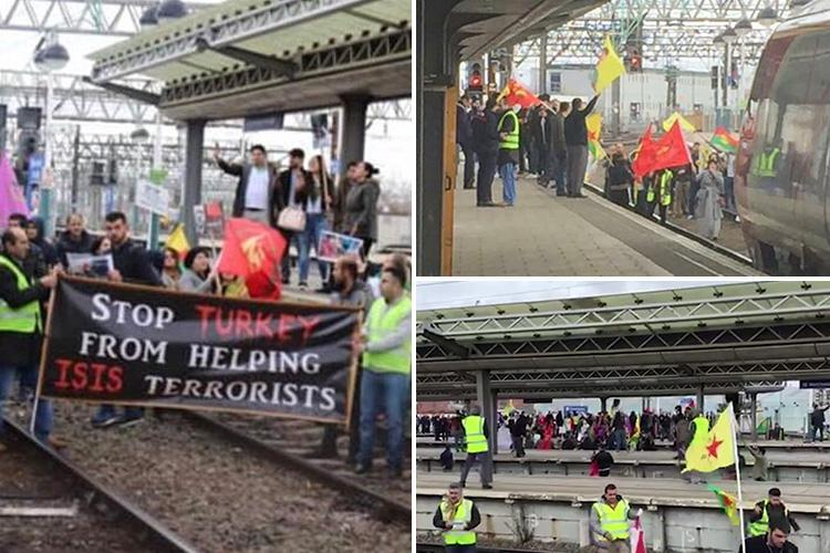 Manchester Piccadilly station closed as protesters jump on the tracks sparking huge delays