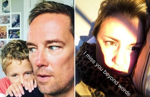 Simon Thomas shares new pic of tragic wife on first Easter since death