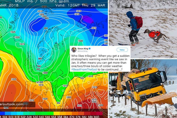 UK weather forecast warns 'Beast from the East 3' may return with snow next week – and 'White Easter'