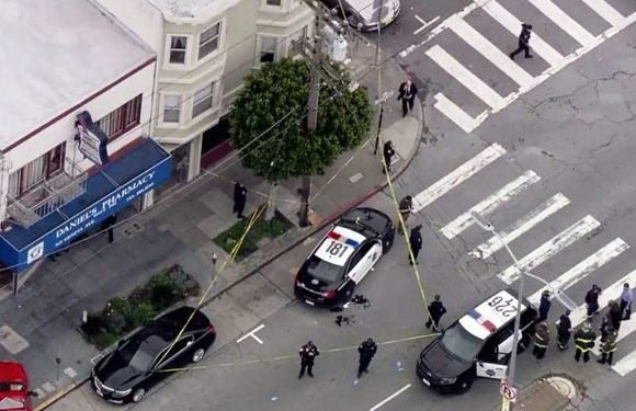 Officer, 5 others wounded in San Francisco shootout
