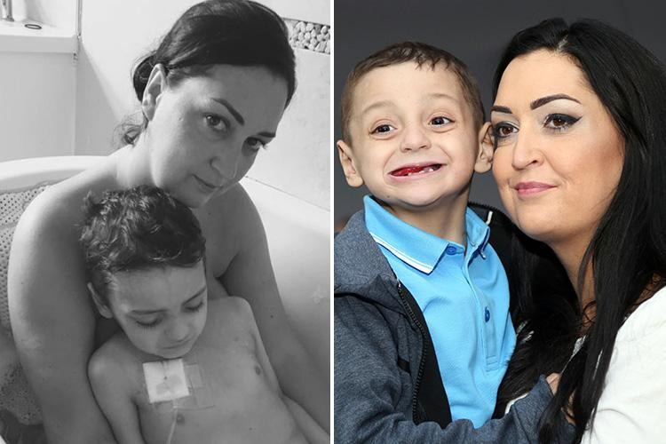 Bradley Lowery's grieving mum shares tender shot of her last bath with cancer tot on first Mother's Day without him