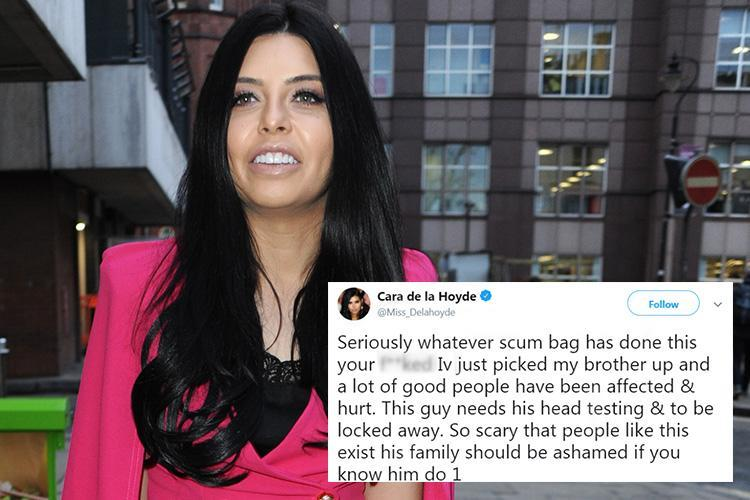 Cara De La Hoyde sparks fan concern as she tweets she's 'picked her brother up' from Gravesend nightclub horror