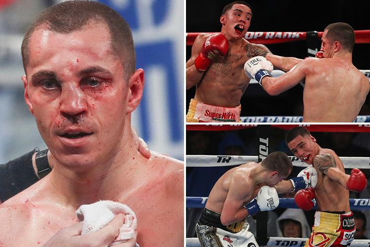 Scott Quigg breaks nose while Oscar Valdez cracks jaw as Mexican wins bloody battle