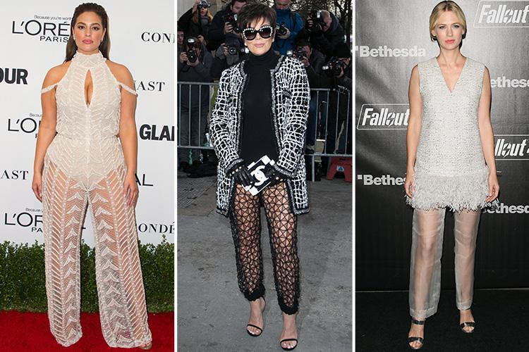 Sheer trousers are set to be the next big trend… but would you be brave enough to wear them?
