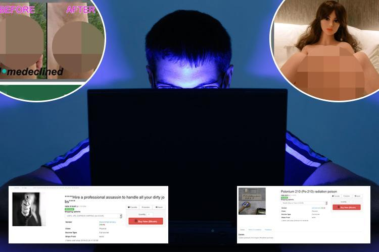 From penis selfies to voodoo spells, Sun Online reveals the weirdest and most dangerous items you can buy on the dark web