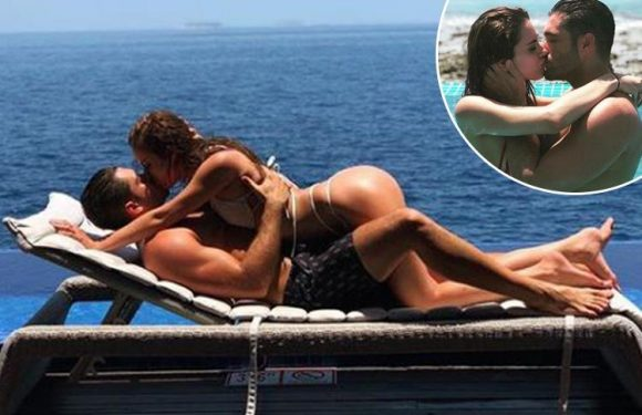 Love Island's Jonny Mitchell declares he's 'in love' as he's straddled by new girlfriend Danielle Zarb-Cousin on Maldives holiday