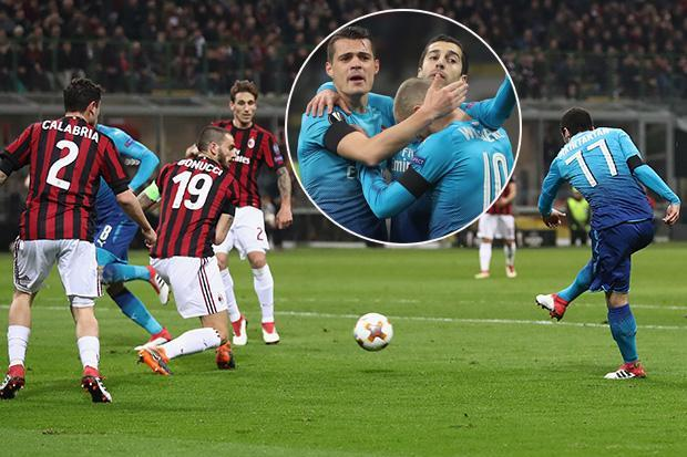 AC Milan 0 Arsenal 1 LIVE SCORE: Henrikh Mkhitaryan scores first goal for Gunners – latest updates from TONIGHT'S Europa League