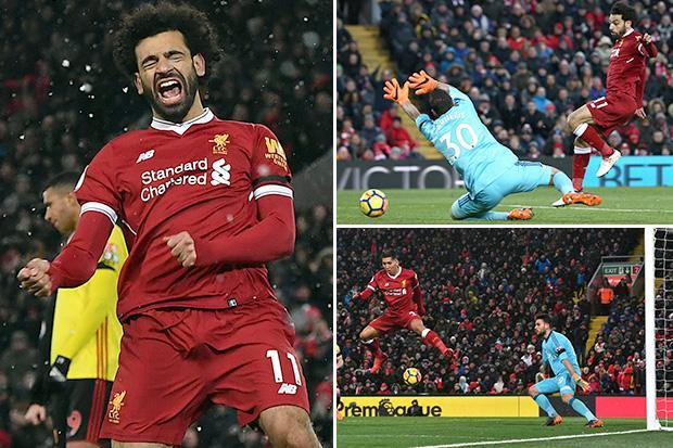 Liverpool 5 Watford 0: Mohamed Salah nets FOUR goals as Jurgen Klopp's men tear Hornets apart at Anfield