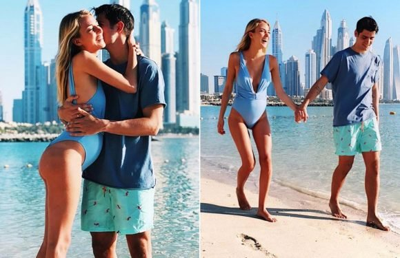 Chelsea star Alvaro Morata relaxes on Dubai break with wife Alice Campello as they prepare to welcome twins